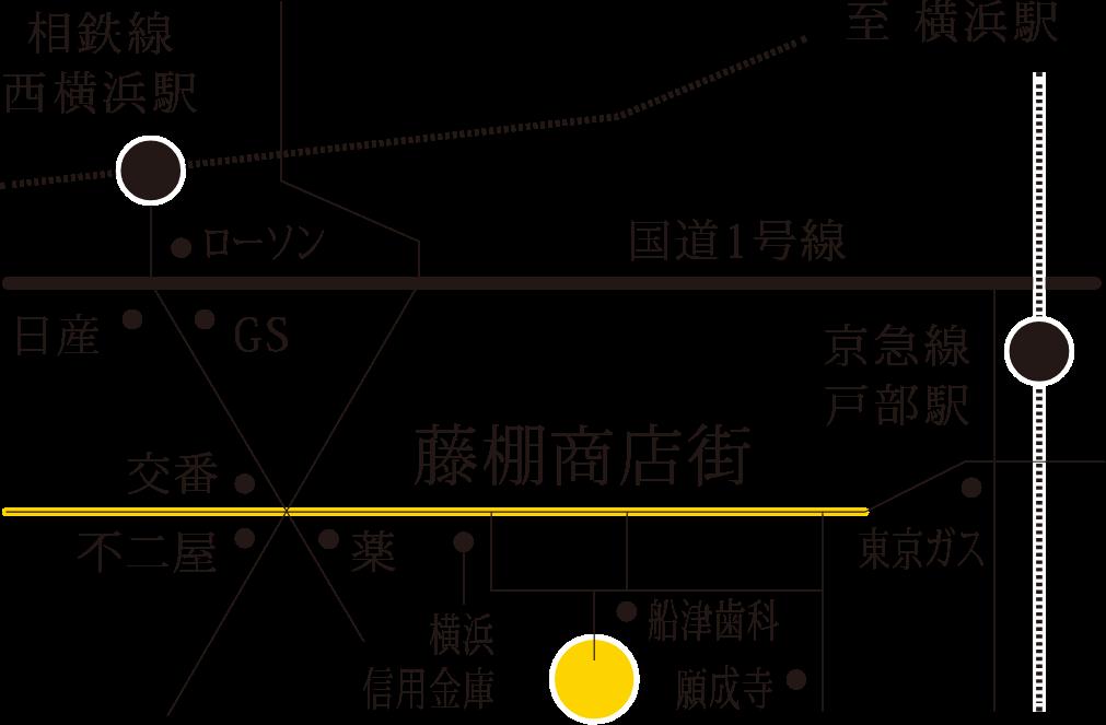 藤棚のアパートメント周辺地図