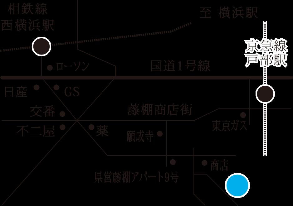 ヨコハマアパートメント周辺地図